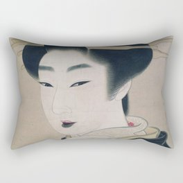 Ukiyoe depicting a Gion geisha Rectangular Pillow