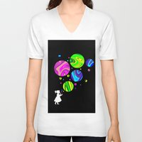 bubbles V-neck T-shirts featuring Bubbles by Finlay McNevin
