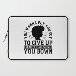Women Motivation - What Weighs You Down Laptop Sleeve