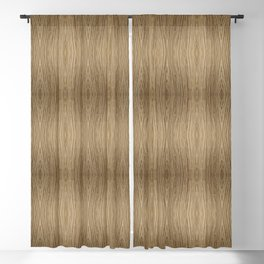 Wooden Pattern Blackout Curtain