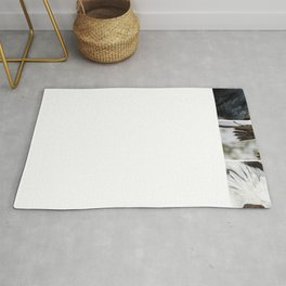 Composition of Wings (White stripes) Rug