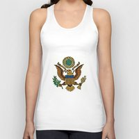 patriotic Tank Tops featuring Patriotic Eagle by manderjack