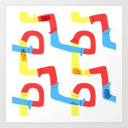 Hamster tube fun time Art Print