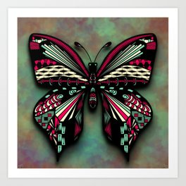 Butterfly Tangle Art Print