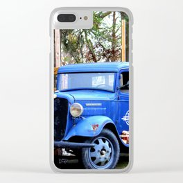 Blue Aged Truck Clear iPhone Case