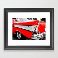 Chevrolet Bel Air Fin Red & Chrome Framed Art Print
