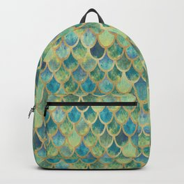 Mermaid Scales (green) Backpack