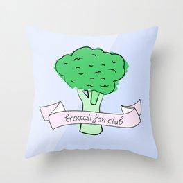 broccoli fan club Throw Pillow