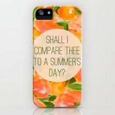 SHAKESPEARE- SONNET 18 Slim Case iPhone (5, 5s)