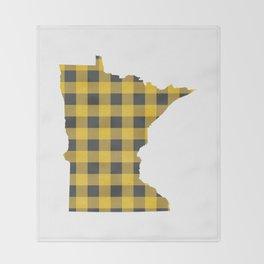 Minnesota Plaid in Yellow Throw Blanket