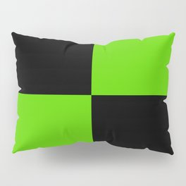 Big mosaic green black Pillow Sham