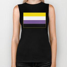 Gender Non-Binary Flag Biker Tank