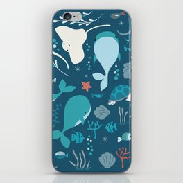 Sea creatures 004 iPhone Skin
