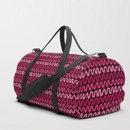 Bold Pink Waves Duffle Bag