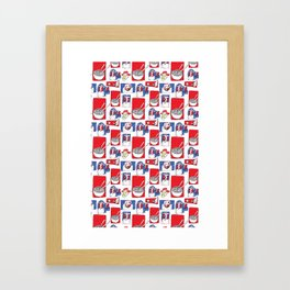 Red, White and Soup Framed Art Print