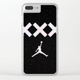 Jumpman Space Clear iPhone Case