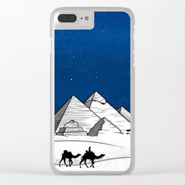 The pyramids of Giza Clear iPhone Case