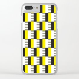 Geometric Pattern #38 (mid-century yellow) Clear iPhone Case