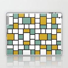Yellow and Teal Bricks Laptop & iPad Skin
