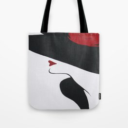 Retro Fashion; Glamour Lady with Black Hat Tote Bag