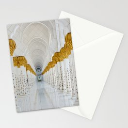 Down the golden white Stationery Cards