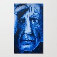 pablo picasso Canvas Prints featuring Pablo Picasso  by David Burdis