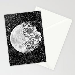 Moon Abloom Stationery Cards
