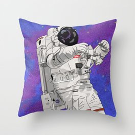 Hypebeast Spaceman Floating In Space | High Quality Artwork Throw Pillow