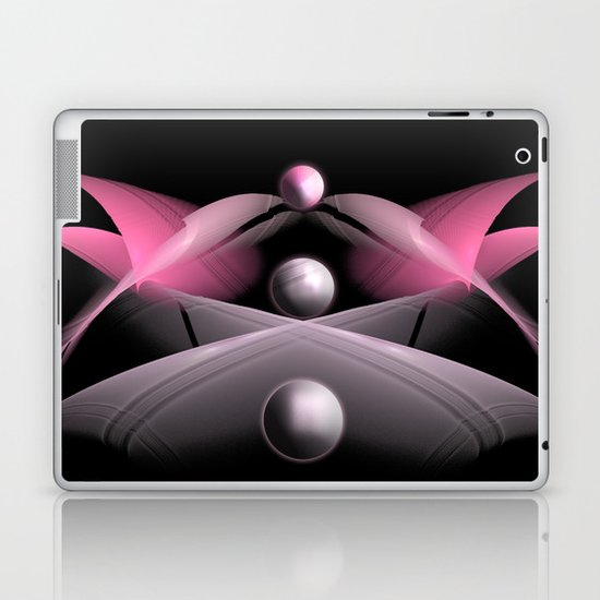 Pink Fractal Laptop & iPad Skin