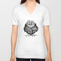 dragon ball z V-neck T-shirts featuring Owl Ball by Dave Mottram