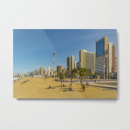 Beach and Buildings of Fortaleza Brazil Metal Print