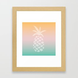 Ombre Pineapple - Tropical Pastel Framed Art Print