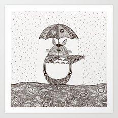 Happy Totoro Art Print