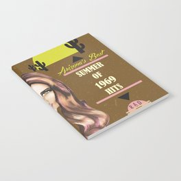 Under The Sedona Sky Arizona's Best Summer of 1969 Hits Vinyl Album Cover Notebook
