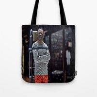 silence of the lambs Tote Bags featuring The Silence of the Lambs by TJAguilar Photos