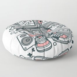 Robot Machinefor animated characters comics and pop culture lovers Floor Pillow