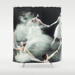 Ghost Dance, Vintage Ballet Shower Curtain