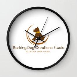 Barking Dog Creations Studio Wall Clock