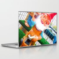 gnome Laptop & iPad Skins featuring Gnome Lover by Cristhian Arias-Romero