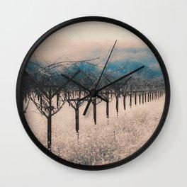 Winter Vineyard II - Nature's Orchestra Wall Clock