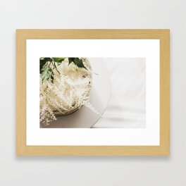 White Naked Cake Framed Art Print
