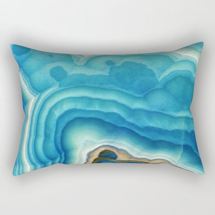 Blue Onyx Rectangular Pillow