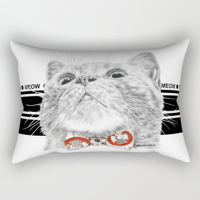 Starwars kitty Rectangular Pillow