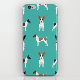 Rat Terrier dog breed pet art dog pattern gifts unique pure breed iPhone Skin