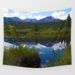 Pyramid Mountain as seen from Cottonwood Slough in Jasper National Park, Canada Wall Tapestry