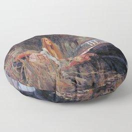 John William Waterhouse's The Lady of Shalott Floor Pillow