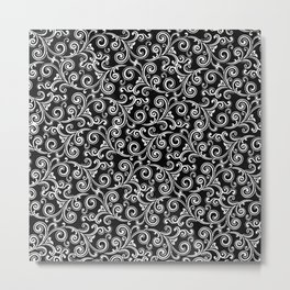 black and white swirls Metal Print
