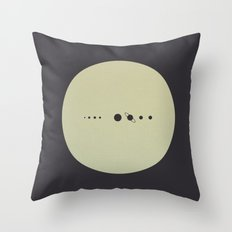 (You are here) Solar System v2 Throw Pillow