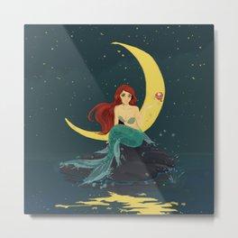 Red - haired mermaid princess Metal Print