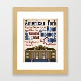 Travel - American Fork Framed Art Print
